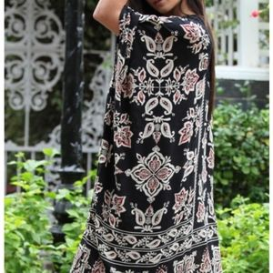 NWT knee length kimono black varied sizes boho